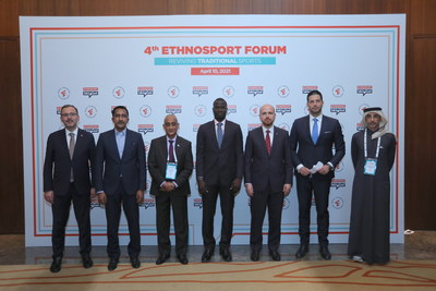 Mehmet Muharrem Kasapoğlu, Minister of Youth and Sports of Turkey, Mossa Ag Attaher, Minister of Youth and Sport of the Republic of Mali, Hamza Said Hamza, Minister of Youth and Sports of the Federal Government of Somalia, Bakary Y. Badjie, Minister of Youth and Sports of the Republic of The Gambia, Necmeddin Bilal Erdoğan, President of World Ethnosport Confederation, Vanja Udovičić, Minister of Youth and Sport of the Republic of Serbia, Salah bin Ghanem Al Ali, Minister of Culture and Sports of the State of Qatar.