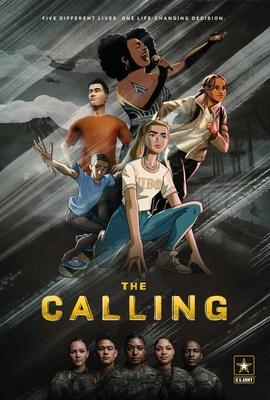 "Póster promocional de la serie animada ""The Calling"", del U.S. Army"