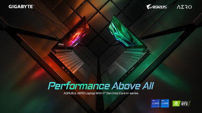 Performance Above All -- GIGABYTE Released New Laptops with Intel's 11th-gen High-performance Processors