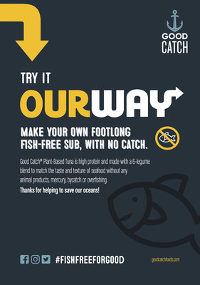 Good Catch OurWay recipe cards to make you own #FISHFREEFORGOOD sub at home