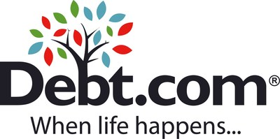 Debt.com is the consumer website where people can find help with credit card debt, student loan debt, tax debt, credit repair, bankruptcy, and more. Debt.com works with vetted and certified providers that give the best advice and solutions for consumers 'when life happens.' (PRNewsfoto/Debt.com)