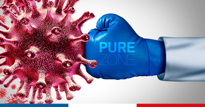 PUREZONE The protection adhesive film which fights viruses and bacteria