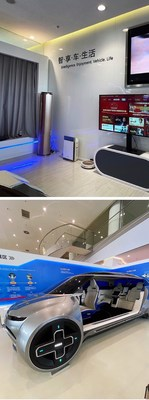 Interconexión vehículo-electrodoméstico, asiento giratorio de 360grados (PRNewsfoto/GWM)