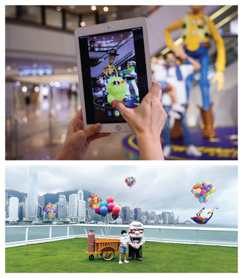 Customers can capture the hidden characters through augmented reality (AR) at 5 checkpoints in Harbour City, Hong Kong.