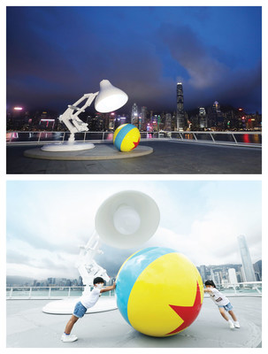 The iconic Pixar Ball and Lamp installation marks its first appearance in Hong Kong at Ocean Terminal Deck of Harbour City.